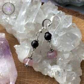 Fluorite & Garnet Earrings